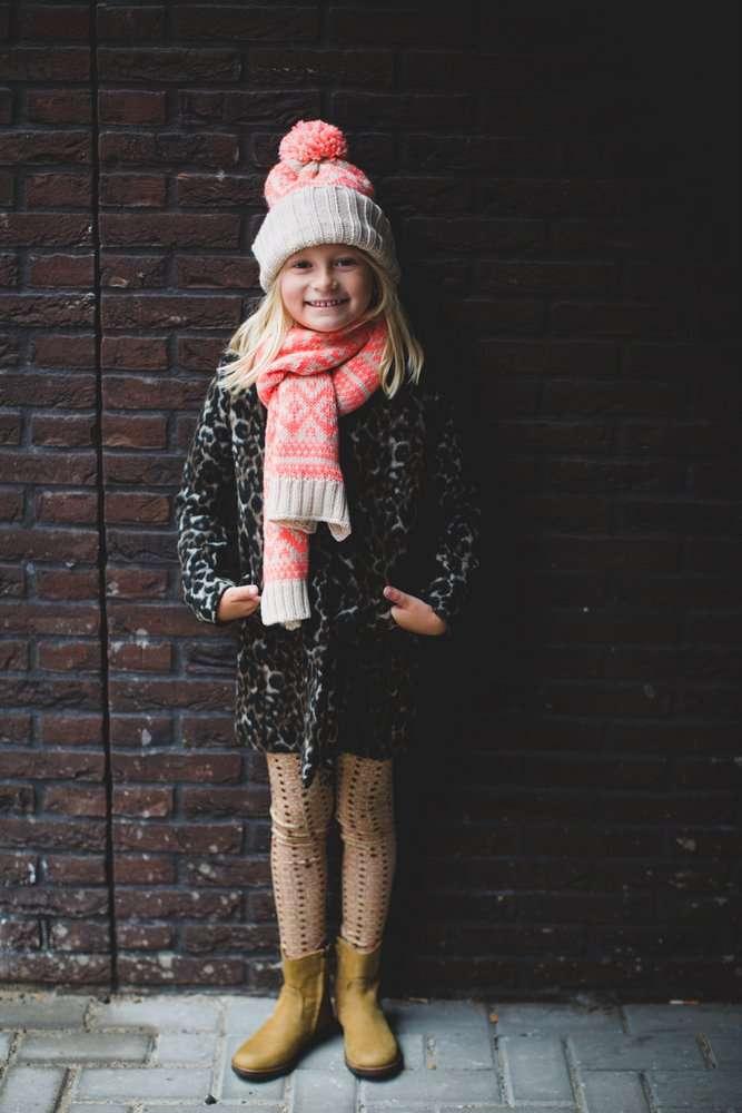 Kindermodeblog.nl stijlvolle meisjes kleding Little pieces sjaal en muts-2
