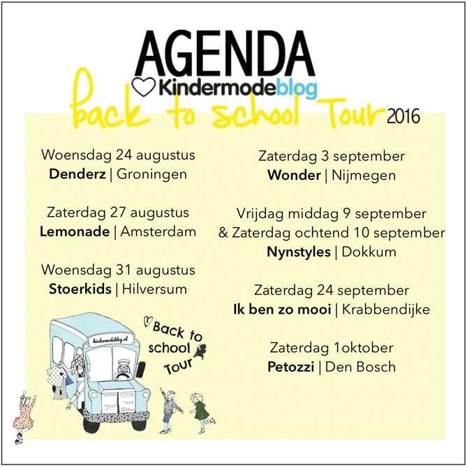 Kindermodeblog   Agenda Back To School Tour
