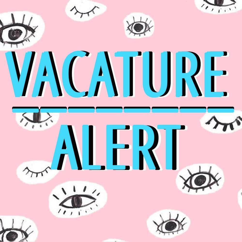 2 VACATURES: REDACTIE VACATURE + SALES VACATURE **Vacature gesloten**