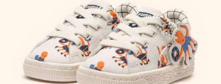 Nieuwe Kinderschoenen.Nieuwe Schoenen Collectie Tinycottons X Puma Gelanceerd