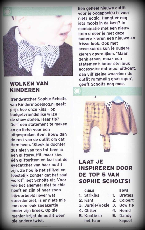 Trendwatcher Sophie in Belgisch Nieuwsblad
