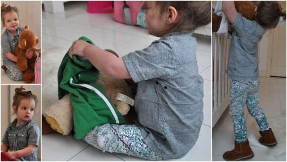 Doutzen in Kidscase van Littlefashionaddict